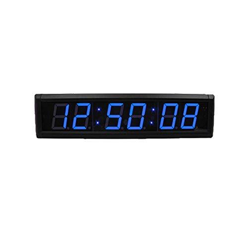 Dfghbn segnapunti & timer ad alta fitness LED programmabile intervallo da parete timer palestra timer sportivo (colore: nero, dimensioni: 41 x 10 x 4 cm)