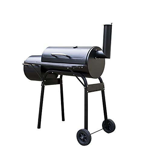 KCT Pisces Outdoor Multifuction BBQ Smoker in Black