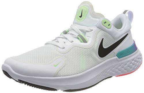Nike Herren React Miler Laufschuh, White Black Vapor Green Hyper Jade Hyper Violet, 40 EU