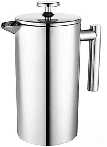 Kaffeemaschine mit Edelstahlfilter, Kaffeekanne, französisches Presssystem mit doppelwandigen Wänden aus 18/10 Edelstahl,-800ML