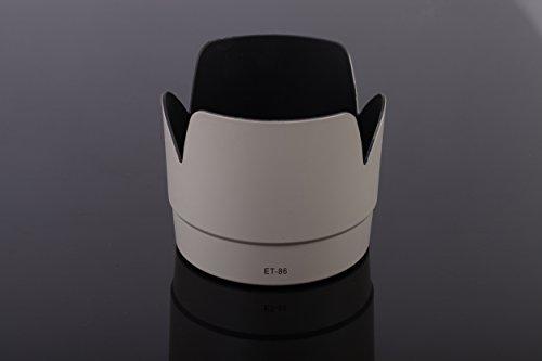 vhbw Parasol para Objetivo de plástico, Blanco-Gris para Canon L EF 70-200mm f, 2.8L IS USM por ET-86.