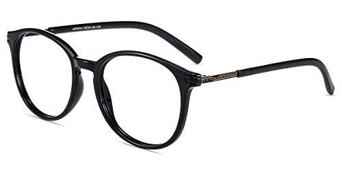 Firmoo Gafas Luz Azul para Mujer Hombre, Gafas Filtro Antifatiga Anti-luz Azul y contra UV400 Ordenador de Gafas Montura TR90 para Protección los Ojos, L9913 Negro