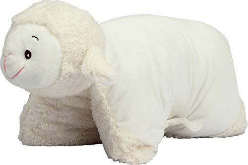 Kuschelkissen Schnucki das Schaf - Plüschtier 2 in 1 Kuscheltier XXL und Kissen - Kopfkissen in Tierform für Kinder und Erwachsene - Tierkissen Kinderkissen Geschenk für Junge Mädchen Baby