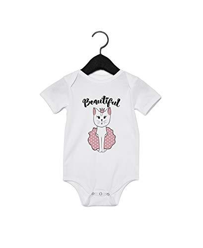 Body pour bébé avec inscription « Pretty Cat » Blanc - Blanc - 6 mois