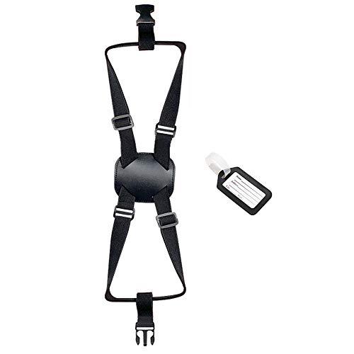 Yullmu バッグとめるベルト スーツケースベルト ゴムバンド 荷物用弾力固定ストラップ 旅行便利グッズ ずり落ち防止 多用 調整可能 軽量 荷物タグ付 黒