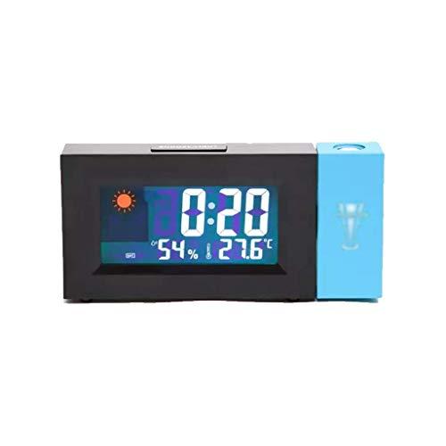 SGSG Wetterüberwachungsuhren Wetteranzeige Uhr Projektionsuhr Wecker LED Fashion Home Clock Drahtlose Wetterstation Wettererkennungsuhr