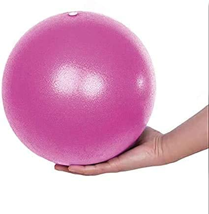 Fresion Exercise Ball Mini,Yoga Ball,Pilates Ball 25cm for Home&Gym Training,Exercise core Strength ,Soft,Durable(Pink)