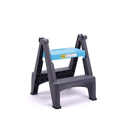 Zbm-zbm Vouwen 2 Ladder, Trapeziumvormige Huishoudelijke Kruk Auto Wassen Professionele 2 Stap Ladder Dikke Kunststof Pedaal Binnen Ladder Kleine kruk