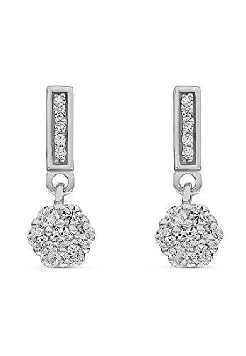 JETTE Silver Damen-Ohrhänger 925er Silber rhodiniert 24 Zirkonia One Size Silber 32012361