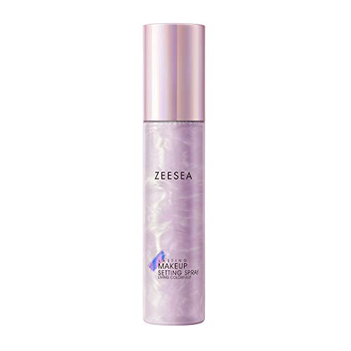 ZEESEA Pink Universe Series Setting Spray, Natural satin gloss finish, Hydrating, Oil Controlling Makeup Finishing Spray and Primer, 1.69 Fl Oz