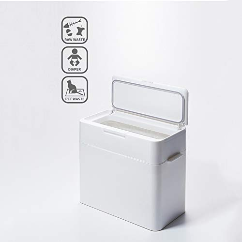 LYXCM Contenedor De Pañales,Cubo para Pañales Plástico Resistente Fácil De Limpiar Tapa para Pañales Cubo para Pañales O Bote De Basura