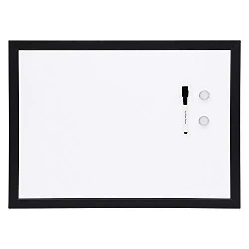 Amazon Basics Magnetic Framed Dry Erase White Board, 17 x 23 Inch