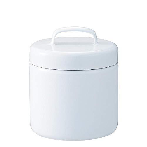 日々道具 野田琺瑯 保存容器 ラウンド ストッカー 中蓋付き 日本製 ホワイト M