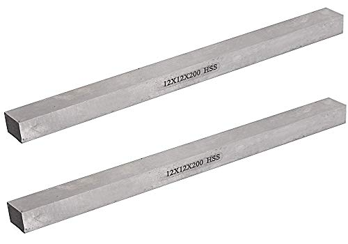 Best Deals! NGe 2pcs Lathe HSS Square Cutting Tool Bits Bar, 12mmx12mmx200mm Turning Milling Cutter ...