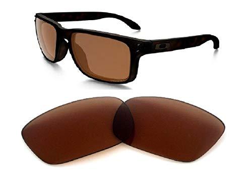 Galaxy Prizm Technology vervangende lens voor Oakley Holbrook zonnebril Bruin