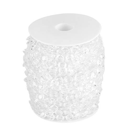 AUNMAS Crystal Bead Roll,99Ft 30M Acrylic Crystal Bead Curtain Garland Diamond Beads Chains for Wedding Party DIY Decor