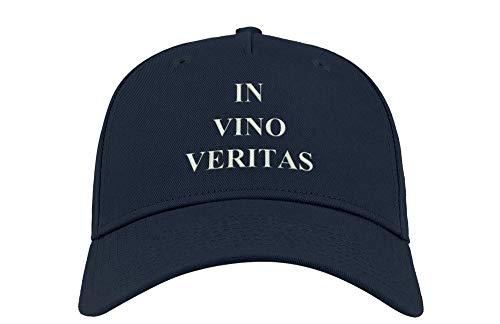 in Vine There is Truth in Vino Veritas Latin Bordado Visera Curva Unisex Transpirable Gorra Gorra Gorra Gorra Gorra Gorra Gorra Gorra Fullcap Trucker Cómodo Top