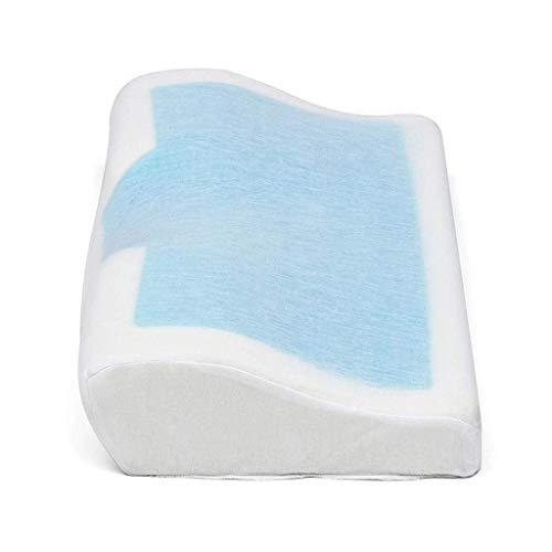 Almohada de espuma de memoria con gel de enfriamiento Cuello de cuello de cervival de cuello de cuello de cervival for dormir Incluye cubierta de almohada con funda de almohada lavable extraíble fengo