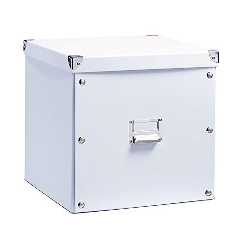 Zeller 17620 Aufbewahrungsbox, Pappe, weiß, ca. 33,5 x 33 x 32 cm