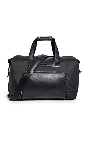 TUMI - Alpha 3 Double Expansion Travel Satchel - Duffle Bag for Men and Women - Black Chrome