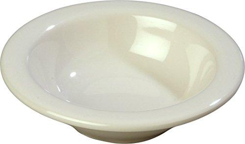 Carlisle 3304242 Sierrus Melamine Rimmed Fruit Bowls, 4.5-oz., Bone (Set of 48)