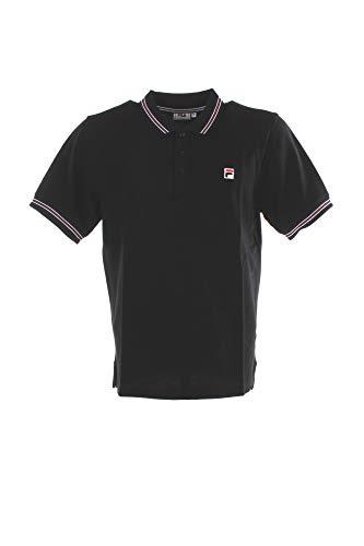 Fila Men MATCHO 4 Polo Shirt, Black, S Uomo