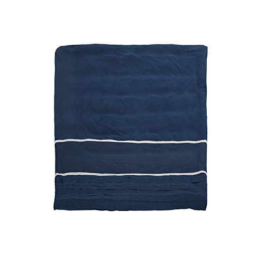 Christopher Knight Home 309039 Louise Queen Size Fabric Duvet, Navy