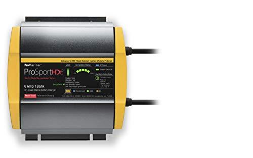 ProMariner ProSport HD 6 Amp Single Bank Waterproof Marine Battery Charger, 44006