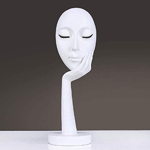 Silence est une statue de sculpture dorée, en résine créative ornement de décoration pour le bureau, la maison, la chambre, le vin armoire de salon -I 10x11x28cm pour la maison jardin
