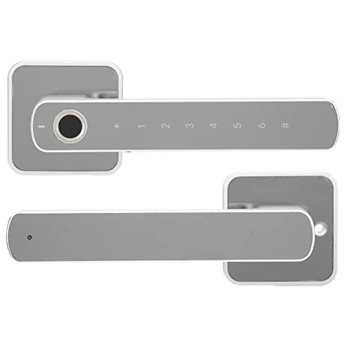 Demeras Smart Keyless Türgriff Fingerabdruck Türschloss Bluetooth Smart Türschloss mit Touchscreen-Installationskit für zu Hause