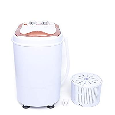 2 in 1 Portable Washing Machine,Mini Compact Washing Machine and Spin Dryer Single Tub Washer and Spinner Dryer Machine for Dorms Apartments Camping 6KG,54 x 35 x 34 cm