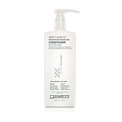 GIOVANNI Weightless Moisture Conditioner Wash Go Co Wash Curls For Wavy Hair No ParabensColor Safe, Direct Leave-In (Grapefruit + Lavender Extract), grapefruit, 24 Fl Oz