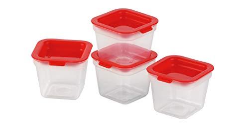 Tescoma 891872 Purity Mini Contenitori Igienici per Freezer, 4 Pezzi, Plastica, Trasparente