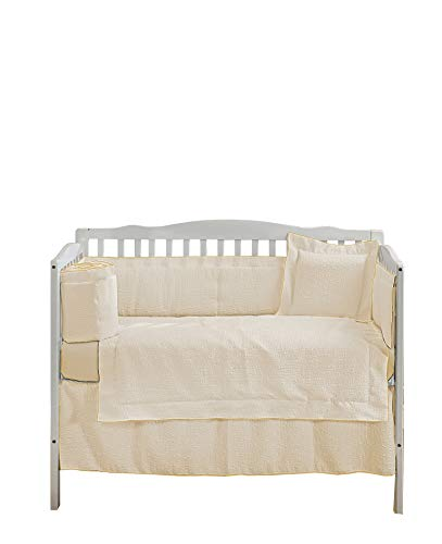 Check Out This Baby Doll Bedding Luxury 4 Piece Crib Bedding Set (Bumper, Sheet, Crib Skirt, Quilt) ...