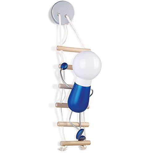 Creative lumière de Mur Intéressant Enfants Lampe Murale Corde Bois Metal Décoratifs lampe de mur Style Moderne Design Lampe de lecture Couloir Lumière de nuit Chambre à coucher Éclairage Mignon H50cm