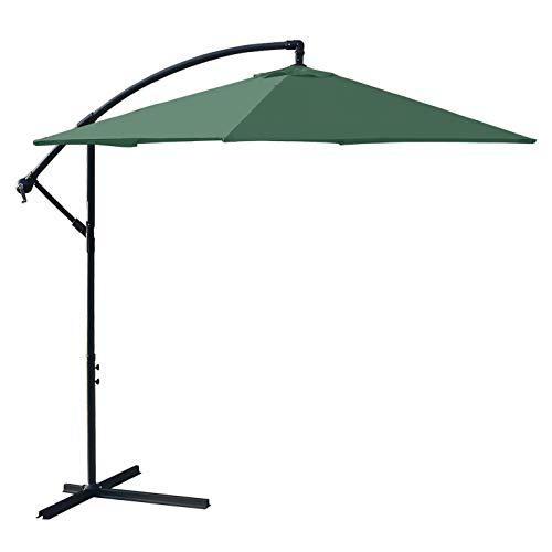 GXYNB Paraguas al Aire Libre de 10 pies, Paraguas de jardín, Paraguas de Cubierta, Paraguas de Patio voladizo con manivela y Base Cruzada, fácil de Instalar