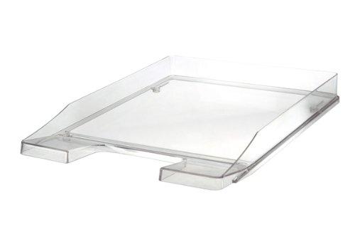 HAN Briefablage JUNIOR 1024-23 in Transparent-Glasklar / Flache, stapelbare Papierablage / In innovativem, modernem Design / Für Briefe & Papiere bis Format A4–C4, 5 Stück
