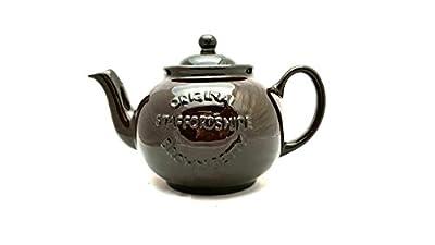 Brown Betty Handmade Original 6 Cup Teapot in Rockingham Brown with Original Staffordshire Logo