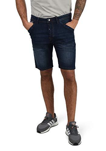 Indicode Alessio Herren Jeans Shorts Kurze Denim Hose Mit Stretch-Anteil Regular Fit, Größe:XL, Farbe:Dark Blue (855)