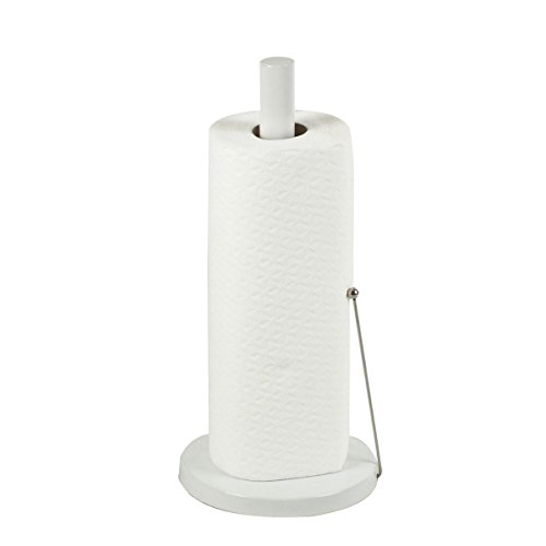 Kela 11485 Küchenrollenhalter, 33,5 cm Höhe, Metall Weiß, Rollo