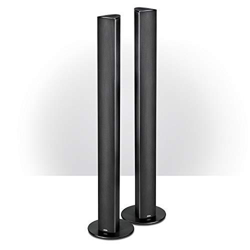 Magnat Needle Alu Super Tower I 1 Paar 2-Wege Säulenlautsprecher I Schlanke Design-Lautsprecher mit elegant gebürstetem Aluminiumgehäuse – Schwarz