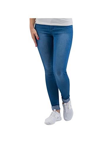PIECES Damen Skinny Hose JUST JUTE WASHED R.M.W LEGGING/M. BLUE, Gr. 40 (Herstellergröße: L/XL), Blau (Medium Blue Denim)