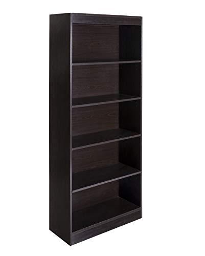 OneSpace Essentials 5-Tier Bookshelf, Espresso