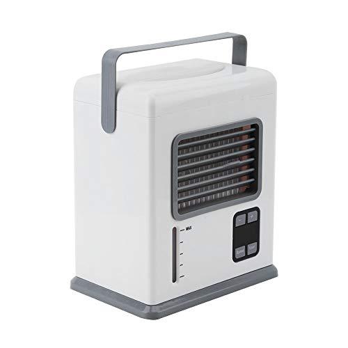 Weikeya Enfriador de Aire, tamaño Compacto, Duradero, se vierte en el Tanque de Agua, Aire Acondicionado, Ventilador, Fabricado en abs (Blanco)