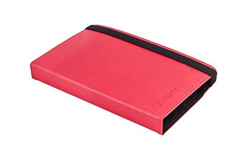 Silver HT - Universalhülle für 7 bis 8 Zoll Tablet, Kompatibel mit Amazon Fire HD 8 Tablet, Rot. Kompatibel mit dem neuen eReader xiaomi My ebook Reader pro