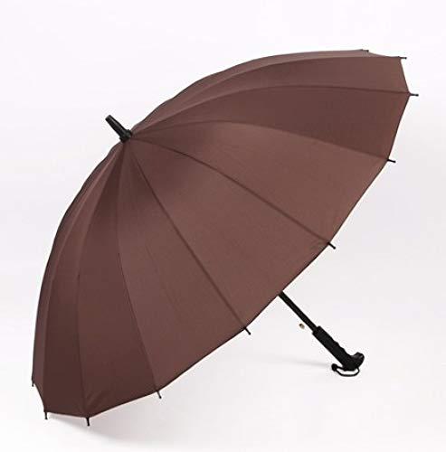 TONGS Individuell Automatisch 16-Bone Golf Regenschirm,Groß Regenschirm,Draussen Sonnenschirm,Bergsteigen,Freizeit,Langen Griff Regenschirm,Doppelt Rippen Habe