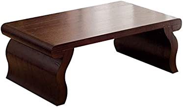 Selected Furniture/Living Room Coffee Table Solid Wood Coffee Table Retro Bay Window Table Rectangular Coffee Table Tatami...