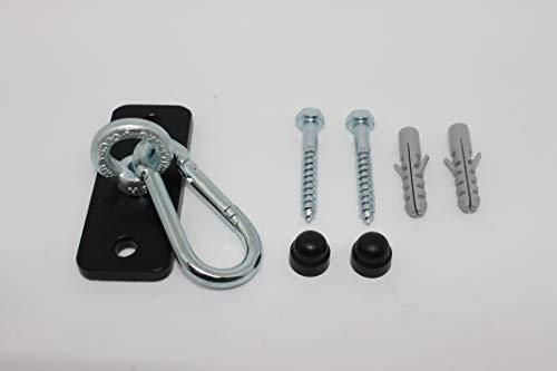 Eisen-Maenicke Decken- & Wandhalterung   Boxsackhalterung   schwarz mit Karabinerhaken   bis 140 kg