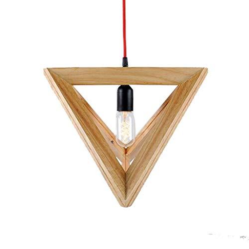 YUQIYU Luces pendientes, Nordic restaurante de la lámpara moderna minimalista creativo de madera sólida de la lámpara (Color : 30cmwarm Light)