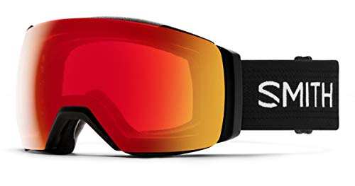 Smith Optics I/O MAG XL Ski- Snowboardbrille Black - ChromaPOP Red Mirror Photochromic